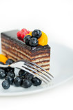 chocolate and fruit cake