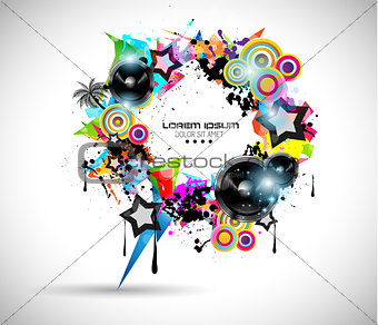 2014 Music Event Background for your  Flyers
