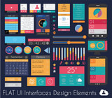 UI Flat Design Elements for Web, Infographics