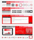 UI Flat Design Elements for Web, Infographics