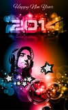 2014 New Year's Party background for Club Flyers