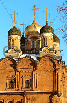 Church on the street in Moscow