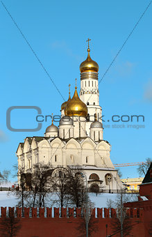 Church and bell tower of Ivan the Great in Moscow