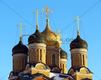 Beautiful church in the center of Moscow