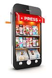 3d newsstand smartphone