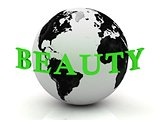 BEAUTY abstraction inscription around earth