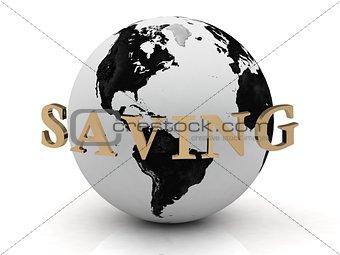 SAVING abstraction inscription around earth