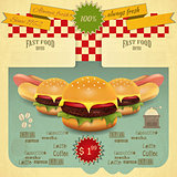 Retro Fast Food Menu