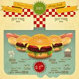 Retro Fast Food Menu