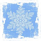 Blue Grunge Snowflake