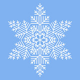 Simple White Snowflake