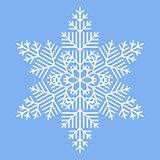 Simple White Snowflake
