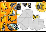 cartoon bulldozer jigsaw puzzle game