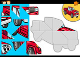 cartoon car jigsaw puzzle game