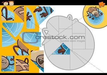 cartoon spider jigsaw puzzle game