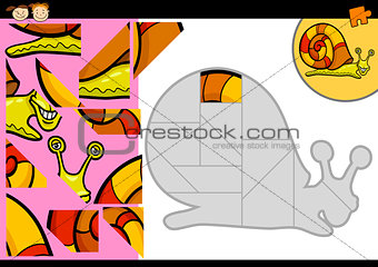 cartoon snail jigsaw puzzle game