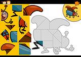 cartoon beetle jigsaw puzzle game