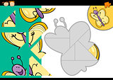 cartoon butterfly jigsaw puzzle game