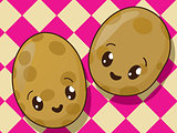 Kawaii  potato icons