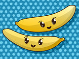 Kawaii banana icons