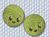 Kawaii cabbage icons