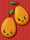 Kawaii pear icons