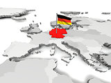 Germany an map of Europe