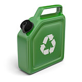 Jerry can with recycling sign