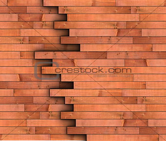 abstract view of wooden boards