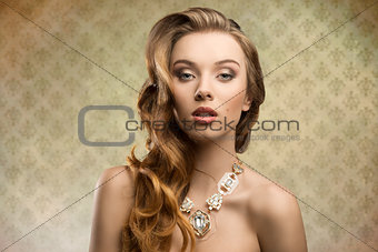 sensual fashion aristocratic girl