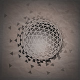 Abstract 3D geometric illustration.