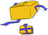 Gift Box Open and Unopened