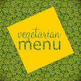 Vegetarian Menu Template  Vector Illustration