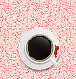 coffee invitation background vector illustration