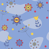 Abstract Cute Background  Flower Seamless Pattern Vector Illustr