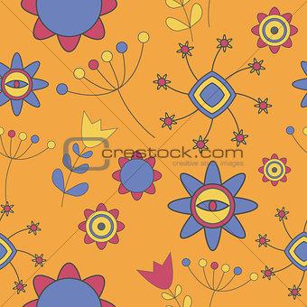 Abstract Cute Background  Flower Seamless Pattern Vector Illustr