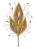 abstract colorfull  leaf on white background