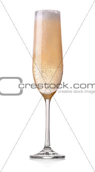 Celebratory glass of champagne