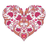 floral valentines heart