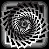 Design monochrome abstract spiral movement background