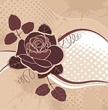 vector background with rose
