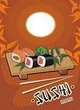Sushi menu - vector