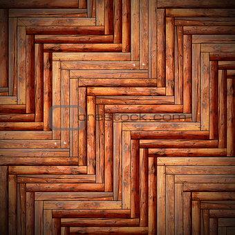 beautiful floor mounted wood tiles
