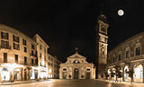 Varese, piazza San Vittore Lombardy - Italy, Night view