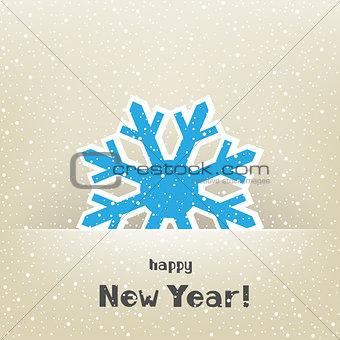 Christmas card and snow