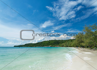 koh rong island beach in cambodia
