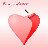 Valentine card : Vector painted heart