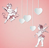 Background with cupids