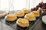 Biscuits cooling on a rack