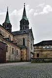 Medieval cathedral St. Jakobs in Bamberg,